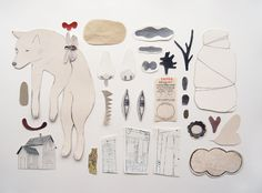 camilla engman illustrations. mixed media collage. love.