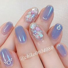 Have cute af acrylic nails 💗💗 Pretty Nail Art, Cute Nail Art, Cute Nails, Korean Nail Art, Korean Nails, Asian Nail Art, Soft Nails, Simple Nails, Kawaii Nail Art