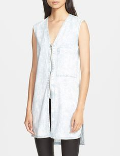 Pair this zip-up Helmut Lang vest with a lace slip.