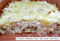 Nokedlivel rakott csirke cserépedényben Lasagna, Ethnic Recipes, Desserts, Food, Lasagne, Tailgate Desserts, Meal, Dessert, Eten