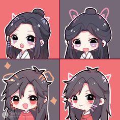 Chibi Bunny, Kawaii Chibi, Anime Chibi, Manga Anime, Demon King, Light Novel, Chinese Art, Doodle Art, Cute Drawings