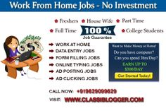 http://www.classiblogger.com is a blog about make money, data entry jobs, online jobs, survey jobs, seo, smo, technology, gadgets etc...  There are hundreds of best money making online jobs available on internet to work part/full time and earn money. But before starting any of the program, you need little bit knowledge about that online job and some of the tips and tricks so that you can work very efficiently and earn more money in less time.