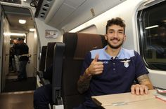 Danilo Cataldi of SS Lazio traveling on the train for Naples ahead of the Serie A match between Napoli and Lazio at on November 4, 2016 in Rome, Italy.