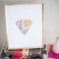Create one-of-a-kind original artwork with this marble gemstone DIY! (Super affordable, BTW)