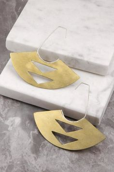 Wolf & Sparrow Zolin Brass Earrings