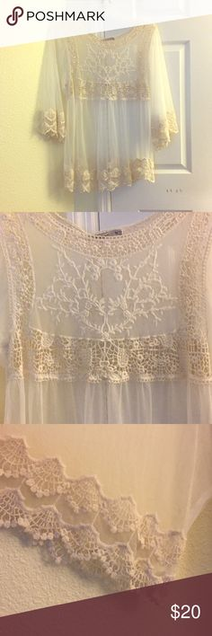 Beautiful mesh top New never used with tags Tops Blouses