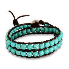 Our Chen Rai turquoise beaded wrap bracelet is the perfect choice if you're looking for a colorful and fun bracelet to wear.