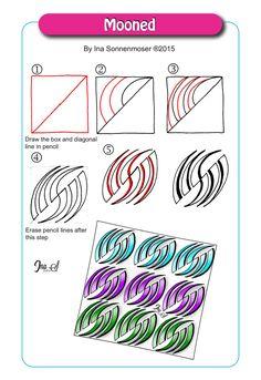 I'm a CZT, a Certified Zentangle Teacher, and I love, love, love doing tangles! Zentangle Drawings, Doodles Zentangles, Doodle Drawings, Doodle Designs, Doodle Patterns, Zentangle Patterns, Tangle Doodle, Zen Doodle, Doodle Art