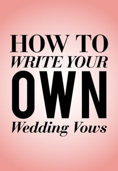 15 Questions To Ask Before Writing Your Wedding Vows