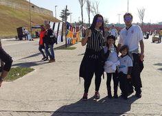 Soraya, Isabella, Lorenzzo e Rodrigo na Arena Corinthians em 23/07/2016. By Salete Barilli
