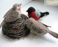 szydelkowe ptaki
