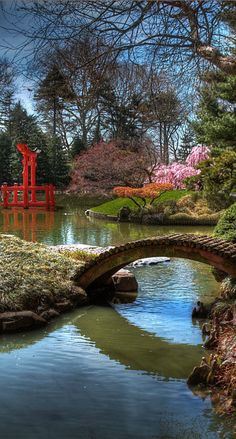 Bridge to Eden in the Japanese Hill-and-Pond Garden at the Brooklyn Botanic Garden in New York City • photo: Bettycrocker on Wikipedia