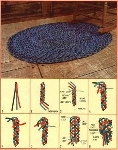 No Sew Interwoven Braided Rug For Those Who Like Homemade Rugs But Sewing The Braids Together Diy Home Crafts