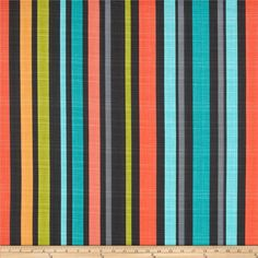 Michael Miller Hashmark Big Hash Stripe Clementine from @fabricdotcom  Designed for Michael Miller, this cotton print fabric is perfect for quilting, apparel and home decor accents. Colors include shades of turquoise, grey, orange, and lime.