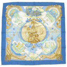 [Free Shipping] [Pre-Owned] Auth Hermes Scarf #:25027170 #Hermes #Style