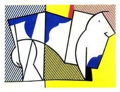 Bull III, 1973, Roy Lichtenstein Medium: collage, board