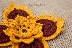 Ravelry: Prajamyam Lotus Flower pattern by Happy Patty Crochet