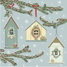 Christmas » Birdhouses Card » Birdhouses Card - Sally Swannell