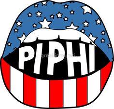 Pi Phi Lips | Sticker
