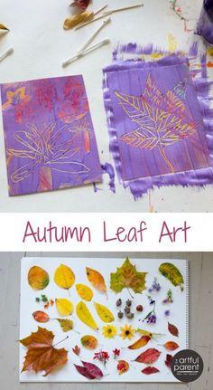 Fall Leaf Art with Scratch Art Paper