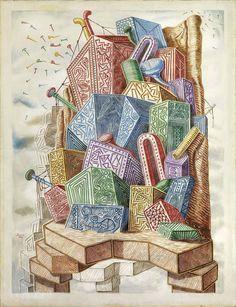 Alberto Savinio Atene 1891 - Roma 1952 Monument, 1929 Olio su tela, cm. 133x101