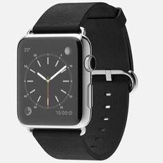 أبل واتش مل ستانليستيل مع إطار جلد أسود فاخر Apple Watch 42mm Stainless Steel Case with Black Classic Buckle  #ينبع #المدينة #جدة #الرياض #ساعة_أبل #Apple_Watch بسعر:   للتواصل دايركت أو واتساب: 966569645073 by apple_p1