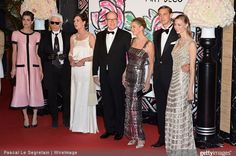 Princess Caroline of Hanover, Prince Albert of Monaco, Charlotte Casiraghi, attends the Rose Ball 2015 in aid of the Princess Grace Foundation at Sporting Monte-Carlo on March 28, 2015 in Monte-Carlo, Monaco. (The Rose Ball is one of the major charity events in Monaco. Created in 1954, it benefits the Princess Grace Foundation)