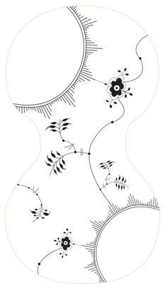 Billedresultat for musselmalet mønster skabelon