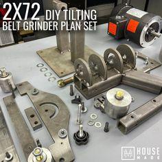 Welding Gear, Welding Table, Welding Cart Plans, Welding Jig, Workbench Plans, Woodworking Workbench, Homemade Tools, Diy Tools, 2x72 Belt Grinder Plans