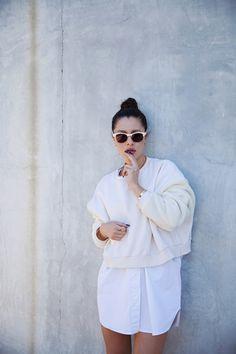 Summer Fashion: White on White. Karla Deras, Mode Chic, Mode Style, White Outfits, Summer Outfits, Fashion Looks, Style Fashion, E Commerce, Minimal Fashion