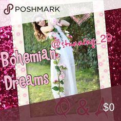 💞Bohemian Dreams in @hot_pink_mamas @stunning_29 Bohemian Dreams COMING SOON in my share closet @hot_pink_mamas 💞🐼💞 @stunning_29 💞 Share 5 Boho items. @hot_pink_mamas @stunning_29 Bags