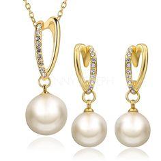 Мода+ювелирные+изделия+&+часы+-+$13.59+-+Красивая+сплав+с+Имитация+Перл+женские+Комплекты+ювелирных+изделий+(137068718)+http://jennyjoseph.com/Beautiful-Alloy-With-Imitation-Pearl-Ladies-Jewelry-Sets-137068718-g68718