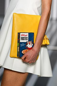 The Georgiana Clutch and the Frosties Imperial Box Clutch at the Anya Hindmarch show, Counter Culture Anya Hindmarch, Fall Winter, Autumn, Types Of Bag, Girls Best Friend, Fashion Week, Carry On, Street Style, Bags