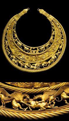 Scythian gold pectoral 6th - 4th centuries BC. [564x989]