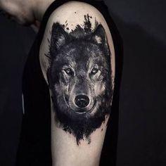 Resultado de imagen para lobo tattoo