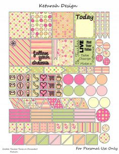 FREE Sweetness Planner Stickers by Keturah Design