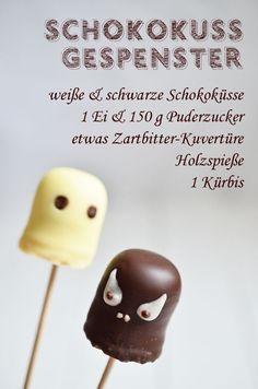 Rezept für die Halloween-Party: Schokokuss-Gespenster (http://www.rheintopf.com) #rezept #recipe #halloween