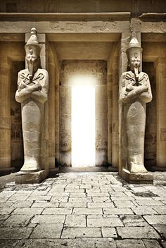 Two Osirian Shuets at the temple  Egypt