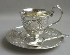 Antique British Sterling tea cup (via Sterling ❤)