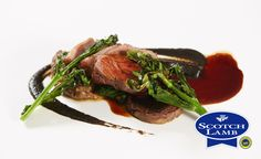 Perthshire Scotch Lamb with smoky aubergine puree and sprouting broccoli (serves 2) recipe from Quality Meat Scotland