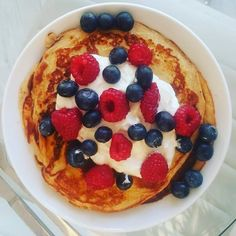 Herbalife Pancakes a la @wellnesspromotermattias  Lovely as a snack for 2 people   Recipe: 2 eggs 2 scoops Herbalife F1 Vanilla 1 scoop Herbalife Personalised Protein Powder 1/2 tsp baking powder Mix together Add 100 ml milk  Fry on a pan with butter and serve with berries and some Quark on top by krishnagp