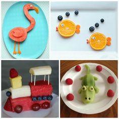 frutas divertidas para niños formas                                                                                                                                                      Más