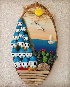 Pin on Boyalı kayalar Stone Crafts, Rock Crafts, Diy And Crafts, Arts And Crafts, Paper Crafts, Pebble Painting, Pebble Art, Stone Painting, Diy Wall Art