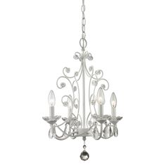 Shop Z-Lite 419WH 4 Light Princess Mini Chandelier at ATG Stores. Browse our chandeliers, all with free shipping and best price guaranteed.