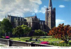 St Patrick's Cathedral, Dublin, Ireland Dublin Ireland, St Patrick, Postcards, Cathedral, Saints, Mansions, House Styles, Santos, Mansion Houses