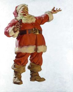 """The perfect Santa """"look"""" for me has always been the Coca Cola Santa.."""