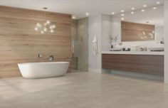 TORLYS EVERTILE - Cliff Island © TORLYS  http://www.torlys.com/residential/products/everwood-evertile/evertile-premier/  #torlys #EverTile #flooring #gqflooring #bathroom
