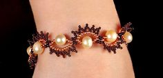 Free pattern for bracelet Peles Click on link to get pattern - http://beadsmagic.com/?p=5927
