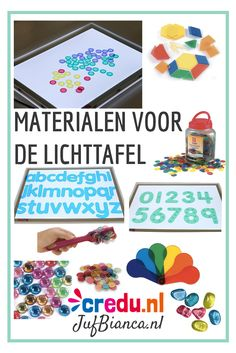 Materialen voor de lichttafel - te bestellen bij credu Overhead Projector, Licht Box, Busy Boxes, Water Beads, Reggio Emilia, Sensory Play, Light Table, Light In The Dark, Kindergarten