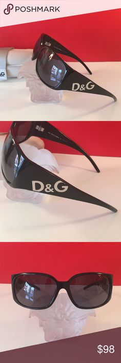 ❤️D&G AMAZING SUNGLASSES AUTHENTIC D&G BY DOLCE & GABBANA LOVELY SUNGLASSES 100% AUTHENTIC! STUNNING AND STYLISH. TRUE HIGH END LUXURY! THE COLOR IS BLACK WITH SILVER LOGO. THE GLASSES MEASURE 5.75 INCHES FROM TEMPLE TO TEMPLE. THE LENSE WITH RIM MEASURES 3 INCHES WIDE BY 2 INCHES TALL. FEW MODEST LENSE SMUDGES BUT OVERALL BEAUTIFUL. COMES WITH CASE BUT THE CASE HAS NORMAL SMUDGES. D&G Accessories Sunglasses